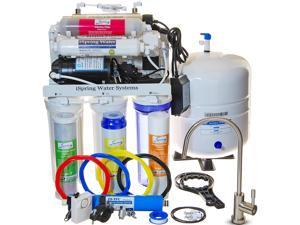 iSpring 7-stage 100GPD Reverse Osmosis RO Water Filtration System, Under Sink System with UV Alkaline Filter and Brushed Nickel Faucet