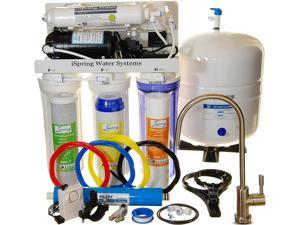 iSpring - USA Top Brand 100 GPD 5-stage Reverse Osmosis Water Filter System. Under Sink RO Filtration with Booster Pump - 2:1 Waste Ratio #RCC1P