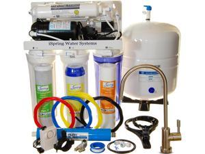 iSpring RCC7P - WQA GOLD SEAL - 5 Stages 75GPD Reverse Osmosis Water Filter System. Under Sink RO System with Real Booster Pump