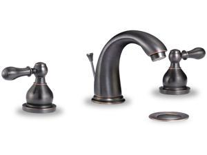 iSpring #L8315ORB Stylish Contemporary Bathroom 2-handle, 3-Hole Basin Faucet, Oil Rubbed Bronze