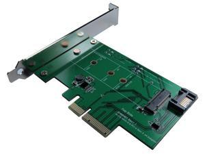 Minerva PCI-e x4 & SATA III to M.2 (M-Key) SSD Adapter with PCI-e Bracket