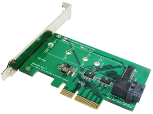 Minerva PCI-e 4 Lane to M.2 (NVMe) SSD & Mini SAS HD (SFF-8643) Adapter