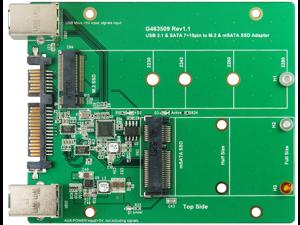 Minerva USB 3.1 B type & SATA III to M.2 & mSATA SSD Aadapter