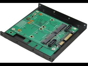 "Minerva SATA III to mSATA SSD x2 & SATA 7pin x2 RAID Card with 3.5"" Frame Bracket & PCI-e standard Bracket"