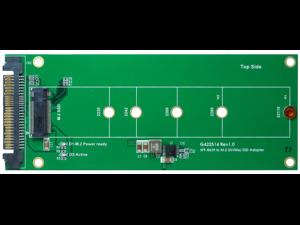 U.2 (SFF-8639) to M.2 NVMe SSD adapterSupport 2230 / 2242 /2260 /2280 /22110