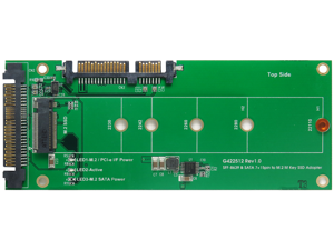 U.2 (SFF-8639) to M.2 NVMe SSD & SATA 7+15pin to M.2 (SATA I/F) SSD Adapter