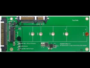 U.2 (SFF-8639) to M.2 NVMe SSD & SATA 7+15pin to M.2 (SATA I/F) SSD AdapterSupport 2230 / 2242 /2260 /2280 /22110