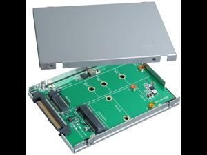 "Innocard BU285F U.2 (SFF-8639) to M.2 NVMe SSD Coverter &SATA Express to M.2 (SATA Interface) SSD & mSATA SSD Converterwith 2.5"" Aluminum Enclosure"