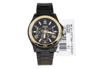 Casio Black Ion Plated Men's Watch MTD-1075BK-1A9V MTD-1075BK