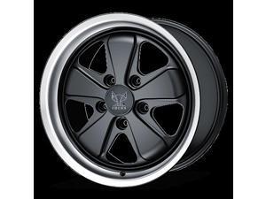 Fuchs Genuine Original  Porsche Front: 19x8.5 5x130 56 Offset 71.5 Satin Black w/ Anodized Lip