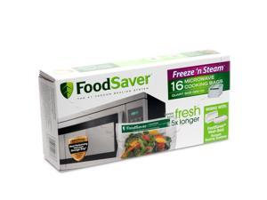 FoodSaver 16 Freeze 'N Steam Microwave Cooking Bags FSFSBC0316-P00