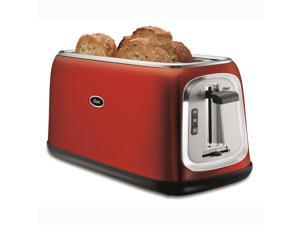 Oster 4-Slice Long-Slot Toaster, Red Metallic TSSTTRJB30R-033