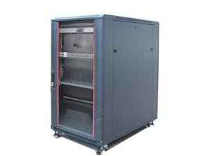 "22U Free Standing Server Rack Cabinet. Fits Most of Servers, ACCESSORIES FREE!! Thermo Control, 4 Fan Cooling Panel, Shelf, 6-Way PDU, LED-Ligh, Fully Lockable 39""Deep Network IT Server Rack Enclosure"
