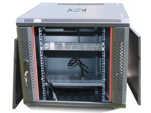 12U Free Standing Server Rack Cabinet. Fits Most of Servers, ACCESSORIES FREE!! Cooling Fan, Shelf, 6-Way PDU, Fully Lockable ...