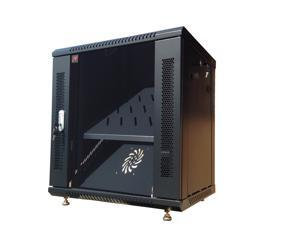 "9U 18"" Depth Server Rack Cabinet Enclosure. ACCESSORIES FREE! Vented Shelf, Cooling Fan, Hardware. Wall Mount 18"" Deep Fully Loaded Lockable Enclosure Cabinet"