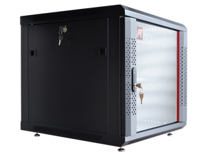 "12U Server Rack Cabinet Enclosure. Fully Equipped. ACCESSORIES FREE! Vented Shelf, Cooling Fan , Hardware, Feet. Wall Mount 24"" Deep Closed Lockable Server Network IT 19"" Enclosure Box"
