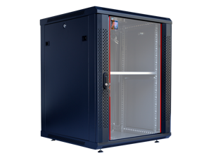 "15U Server Rack Cabinet Enclosure. Fully Equipped. ACCESSORIES FREE! Vented Shelf, Cooling Fan, Hardware, Feet. Wall Mount 24"" Deep Closed Lockable Server Network IT 19"" Enclosure Box"