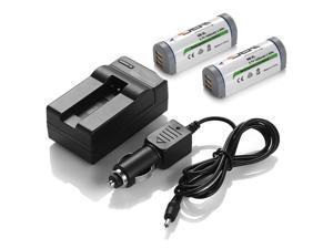 ML 2 x NB-9L Battery +Charger for Canon PowerShot Digital ELPH 510 HS 520 HS 530 HS