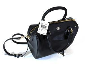 NWT Coach Bag Purse Original Black Leather Cross Body Mini Bennet F36624
