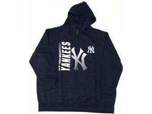 New York Yankees Majestic Full Zip Hoodie Sweatshirt Women's Plus Size 1XL