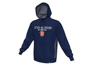 Detroit Tigers Majestic Rookie Phenom Synthetic Hoodie Sweatshirt Size L