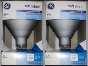 GE Lighting 65 Watt Soft White Floodlight BR40 Light Bulb 2-Pack