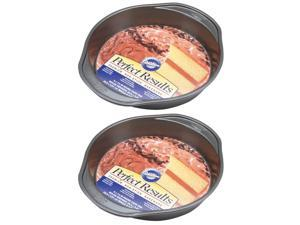 Wilton 2105-6059 Perfect Results Nonstick Round Cake Pan 9 by 1.5-Inch Pack of 2 Pans