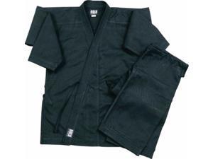 Black Super Heavyweight 14oz Brushed Cotton Karate Uniform by Bold 500b