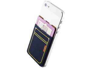 Sinjimoru Denim Stick-On Wallet functioning as Wallet Case, Case with a Card ...
