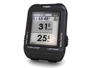 TRYWIN D1 GPS Wireless Cycling Bike Computer Speedometer Odometer with Navigation, support GPX file upload to STRAVA and MapMyRide