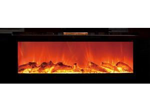 The Sideline™ Touchstone's Recessed Electric Fireplace with Heat in Black
