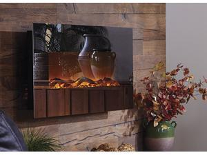 The Mirror Onyx™ Touchstone's Electric Fireplace with Heat with Mirror Glass