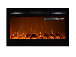 The Sideline36™ Touchstone's 36 inch Recessed Electric Fireplace with Heat in Black