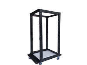 "18U  4 Post Open Frame 19"" Network Server Rack Cabinet Adjustable Depth 24""-37"" FITS MOST SERVER EQUIPMENT"