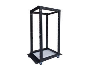"27U  4 Post Open Frame 19"" Network Server Rack Cabinet Adjustable Depth 24""-37"" FITS MOST SERVER EQUIPMENT"