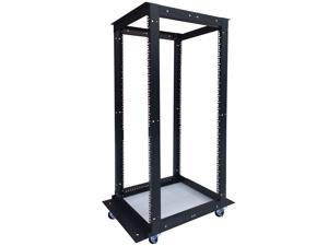 "42U  4 Post Open Frame 19"" Network Server Rack Cabinet Adjustable Depth 24""-37"" FITS MOST SERVER EQUIPMENT"