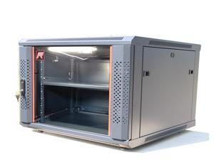 """6U Wall Mount IT Network Cabinet Enclosure Server Rack. FULLY LOADED 24"""" Deep Lockable Cabinet! Accessories FREE!! Cooling ..."""