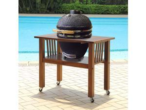Duluth Forge Kamado Ceramic Egg Smoker Grill With Table - Medium Model
