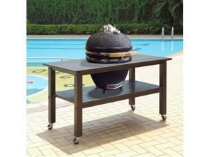 Duluth Forge Kamado Ceramic Egg Smoker Grill With Table - Large Model