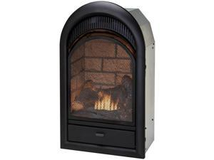 Duluth Forge Dual Fuel Vent Free Fireplace Insert - 15,000 BTU, T-Stat, Brick Liner