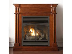 Duluth Forge Dual Fuel Vent Free Fireplace - 32,000 BTU, Remote Control, Autumn Spice Finish