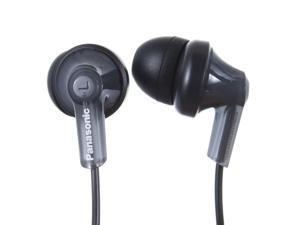 Panasonic ErgoFit In-Ear Earbud Headphones RP-HJE120-K (Black) Dynamic Crystal Clear Sound, Ergonomic Comfort-Fit