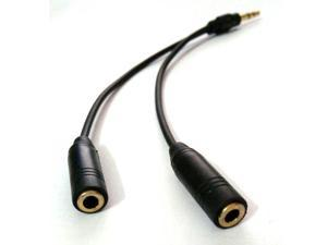 3.5mm Y Male to Female Splitter Cable Audio Adapter Jack for Earphone Headphone
