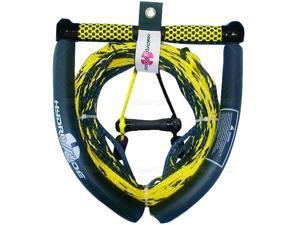 5 section kneeboard tow rope - Black, Yellow HYDROSLIDE Kneeboard Rope