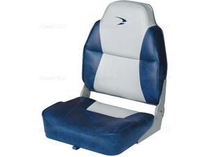 Fold-Down Seat WISE Deluxe Hi-Back Seat Gray, Blue 8WD640PLS-660