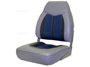 Mid back WISE Sportsman II Seat Gray, Blue, Charcoal 8WD-3302-840