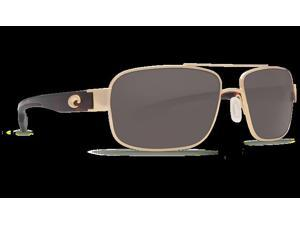 Costa Del Mar TO 26 Tower Gold Square Sunglasses - Size 580P (Gray Lens)