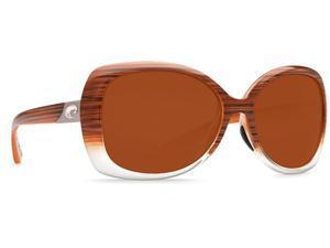 Costa Del Mar Sea Fan EF 81 Wood Fade Sunglasses - Size 580P (Copper Lens)