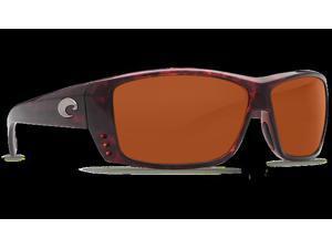 Costa Del Mar Cat Cay AT 10 Tortoise Sunglasses - Size 580P (Copper Lens)