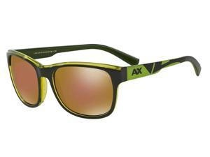 Exchange Armani 0AX4036F Sun Full Rim Square Mens Sunglasses - Size - 57 (Dark Grey / Gold Mirror)